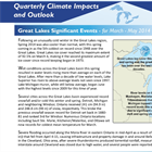 Great Lakes Quarterly Climate Impacts and Outlooks (June 2014)