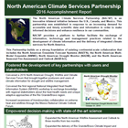 North American Climate Services Partnership: 2016 Accomplishments Report