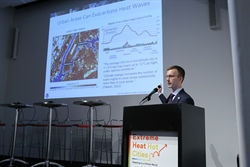 CPO's Hunter Jones delivers keynote on Climate and Extreme Heat at Design for Risk Reduction Symposium in NYC