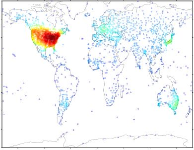 Up-to-date probabilistic temperature climatologies