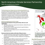 North American Climate Services Partnerships - 2015 Accomplishments Report