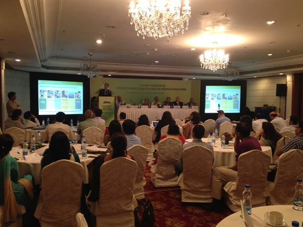 Climate and Health Workshop in India briefed on Climate Services for Public Health by CPO's Trtanj